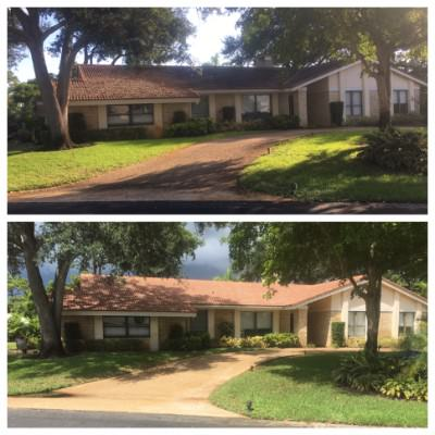 Pressure Cleaned driveway by All American Pressure Cleaning in Palm Beach, FL