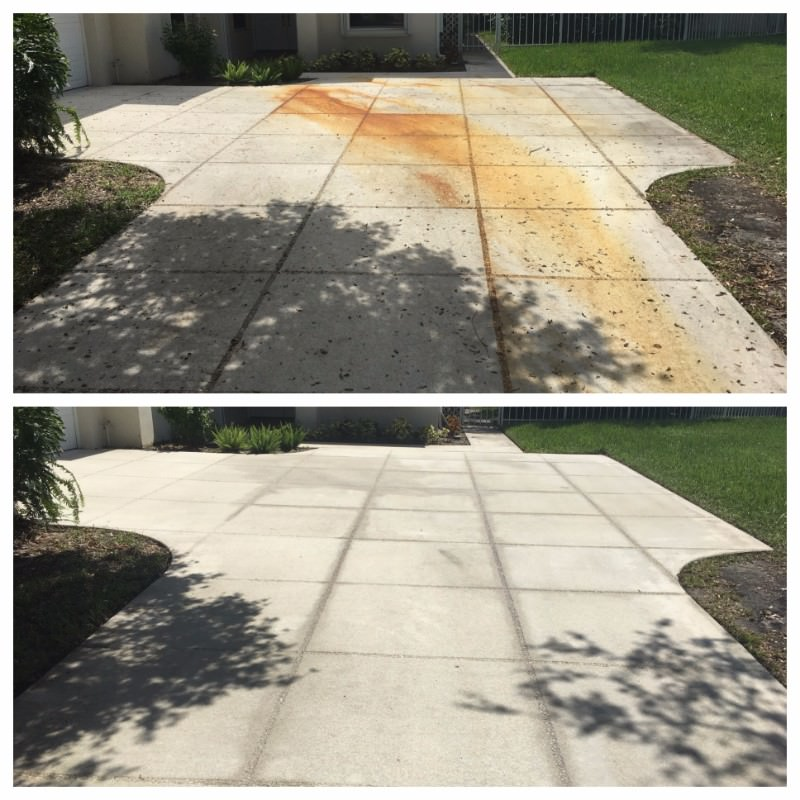 Concrete Cleaning by All American Pressure Cleaning in Palm Beach, FL