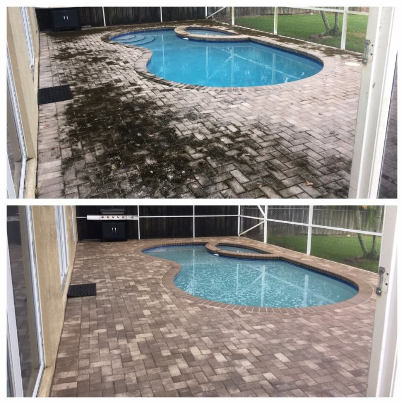 Concrete pressure washing by All American Pressure Washing