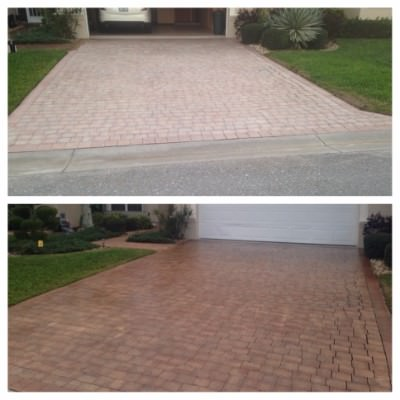 Concrete and Paver pressure cleaning by All American Pressure Cleaning in Boca Raton, FL