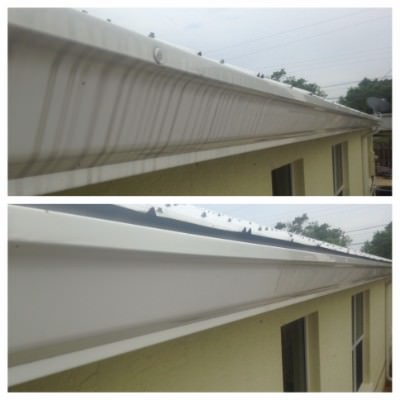Dirty gutters turned to clean gutters by All American Pressure Cleaning