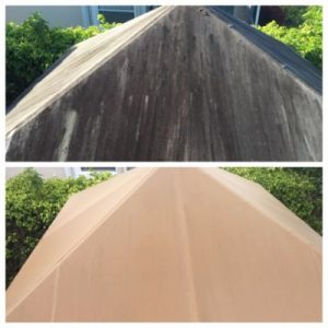 Roof cleaning in Boca Raton, FL by All American Pressure Cleaning